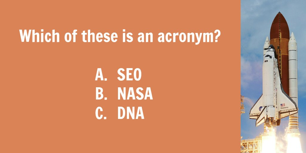 Acronyms vs. initialisms