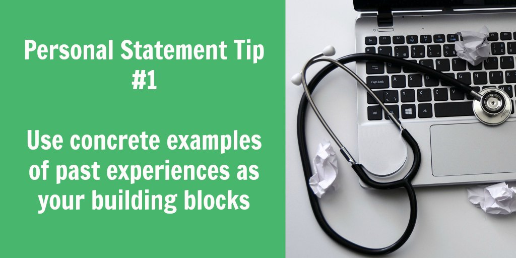 The building blocks of a personal statement