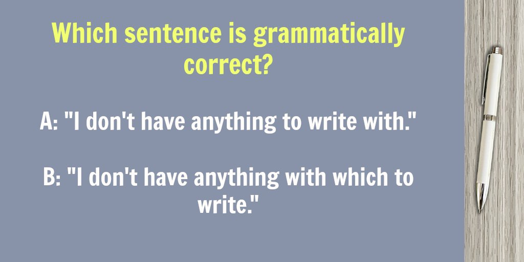 Can you end a sentence with a preposition?