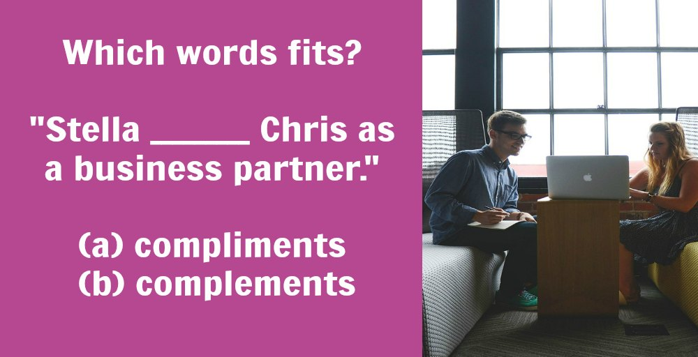 """Compliment"" vs. ""complement"": What's the difference?"