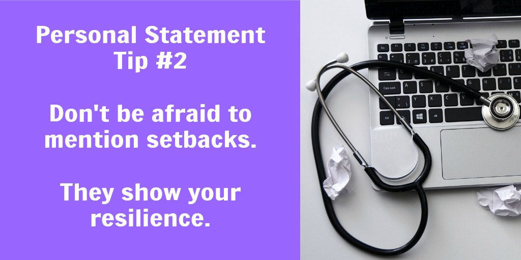 Writing about setbacks in your personal statement