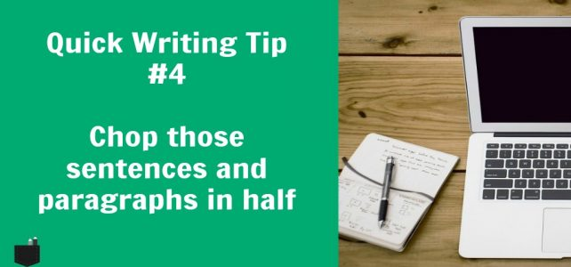 How to write concise sentences and paragraphs