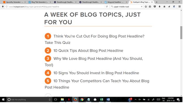 9 blog title generator tools + 72 downloadable templates
