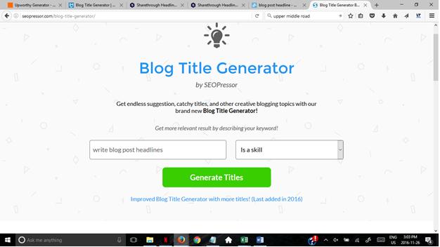 blog title generator SEOPressor