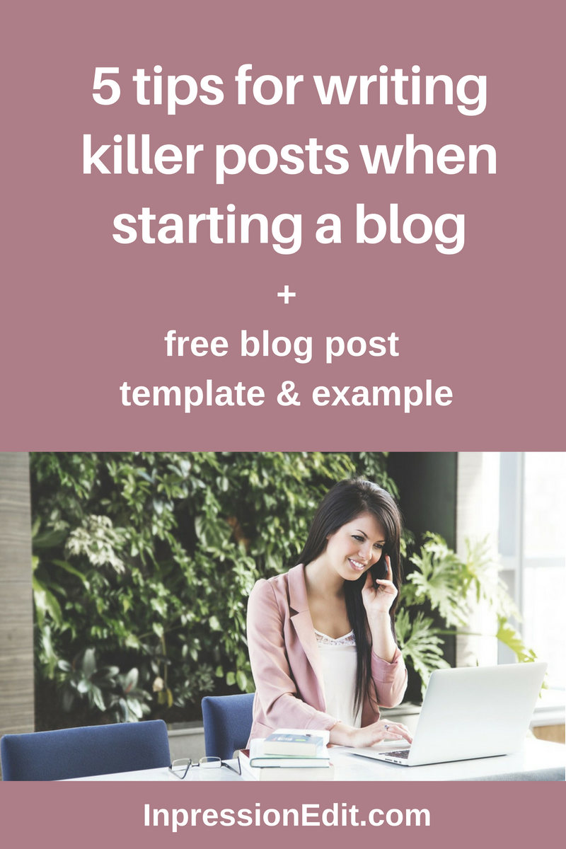 How do you write blog posts that actually get you results? Learn my 5 no-BS tips for writing effective blog posts + grab my full blog post template & example.