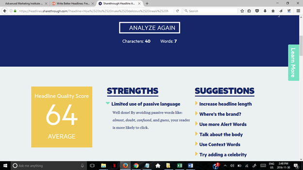 blog title analyzer