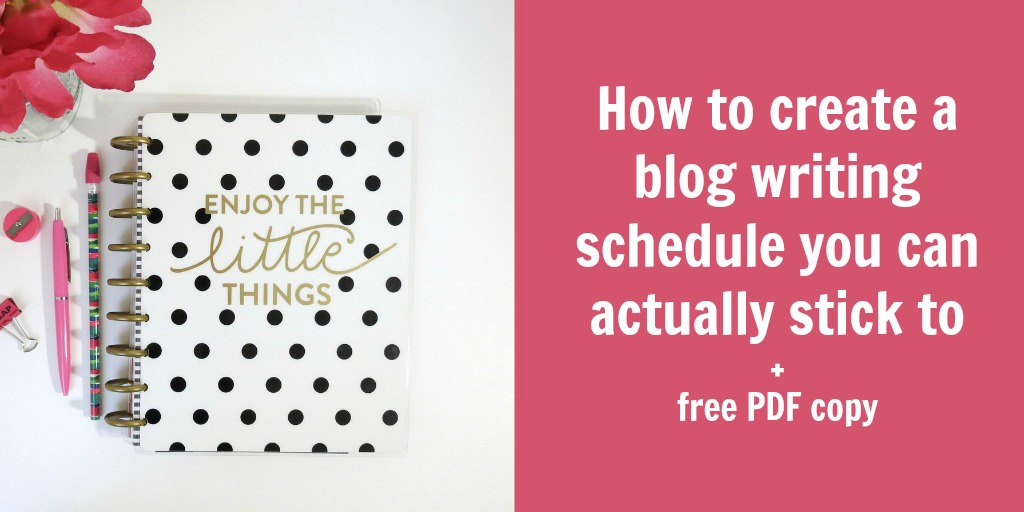 blog writing schedule