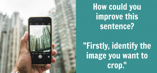 use firstly vs. first