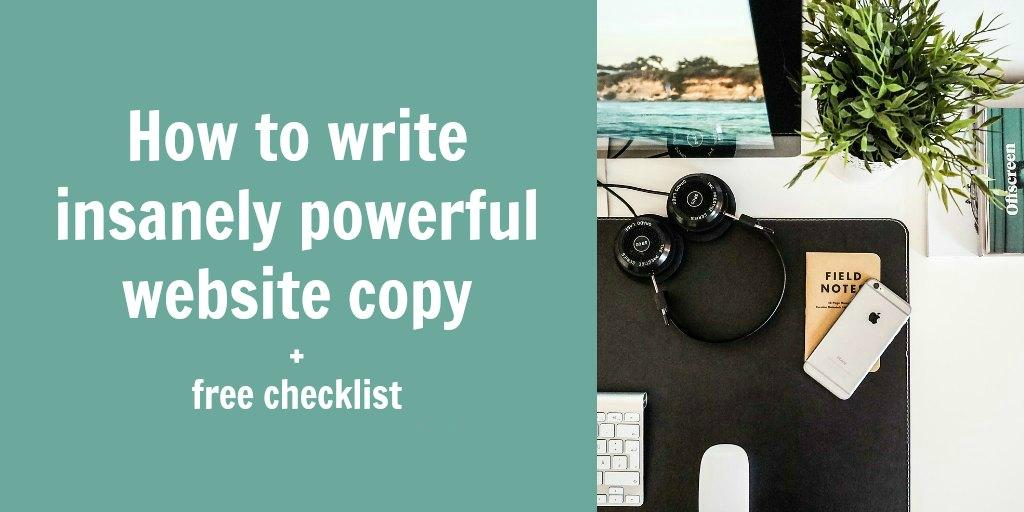 powerful website copy