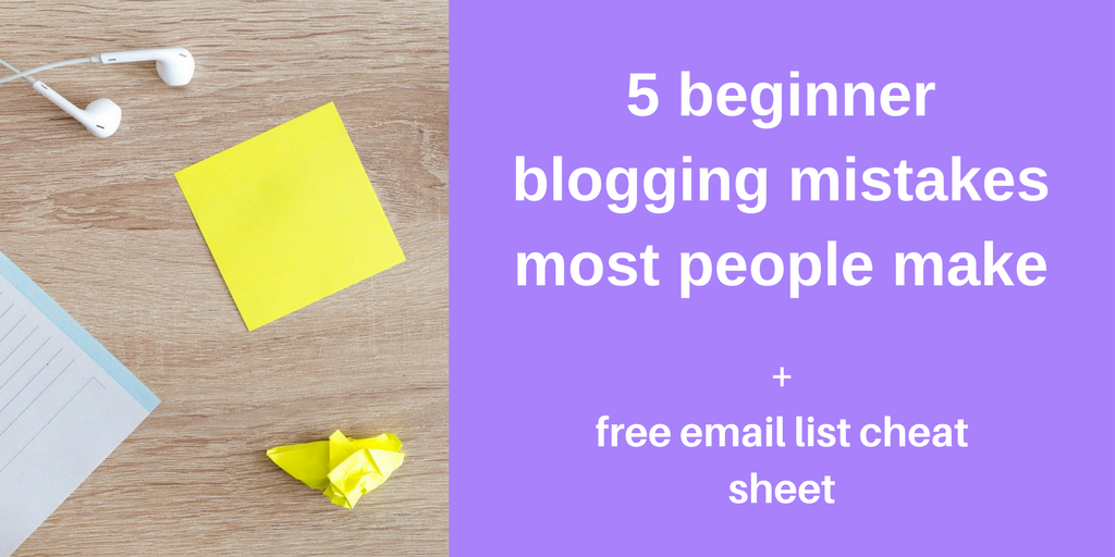 beginner blogging mistakes