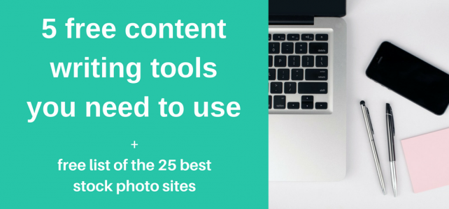 5 free content writing tools you need to use + free stock photo list