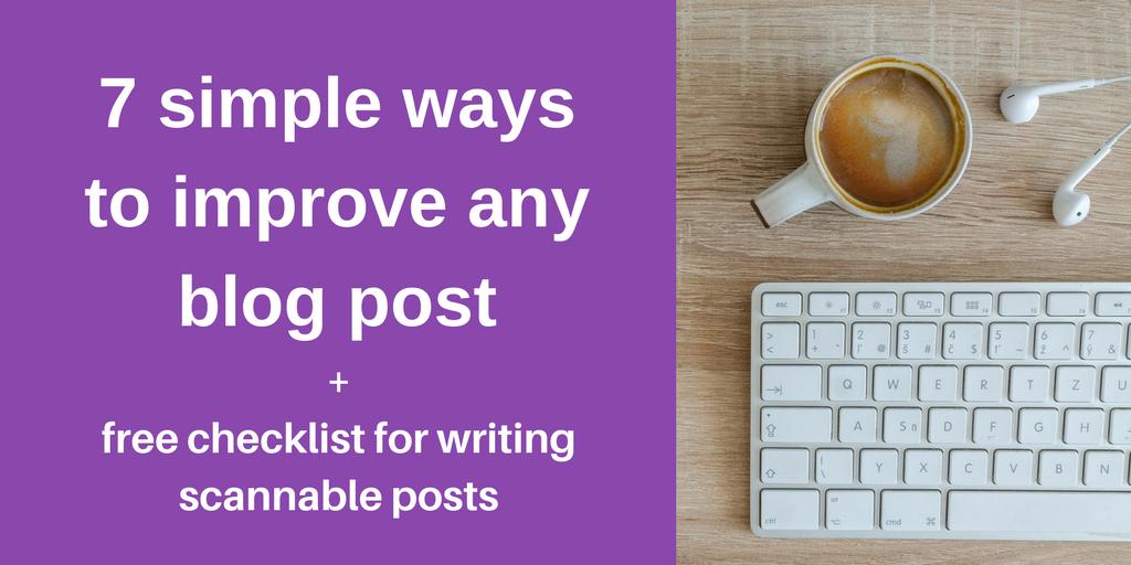 improve a blog post