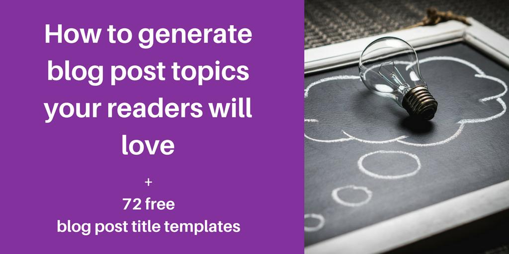 generate blog post topics