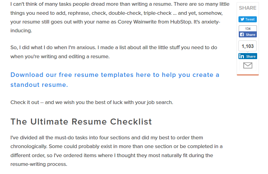 scannable blog posts