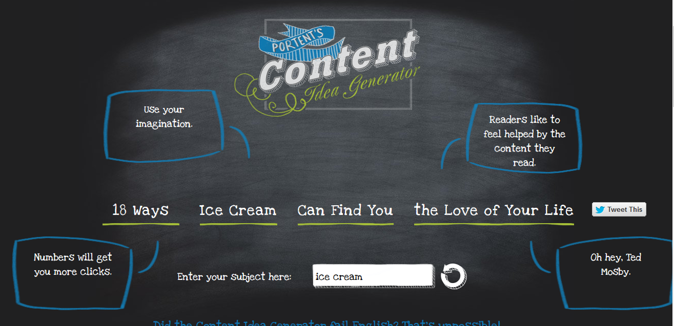 24 blogging tools that will save you hours resource list for Portent idea generator