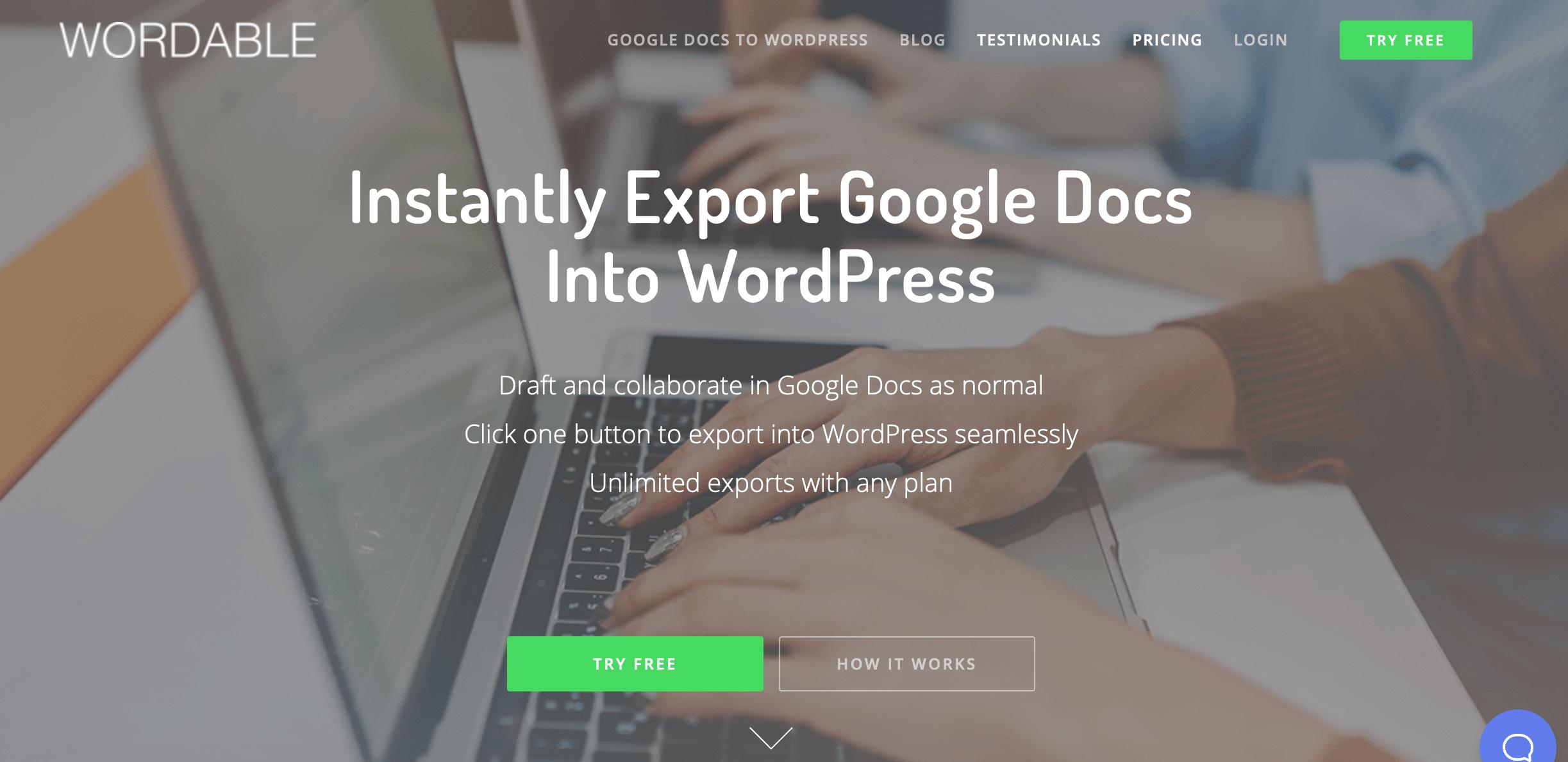 Wordable website