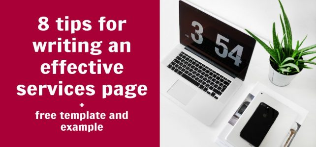 8 tips and examples for writing a high-converting services page + free template