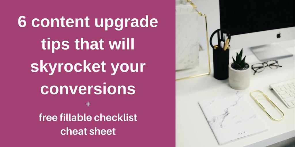 content upgrade tip