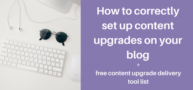 set up content upgrades