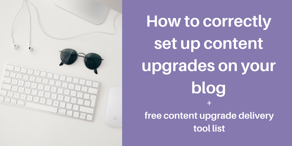 set up content upgrades