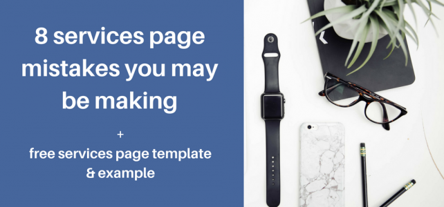 8 services page mistakes you may be making + free template and example
