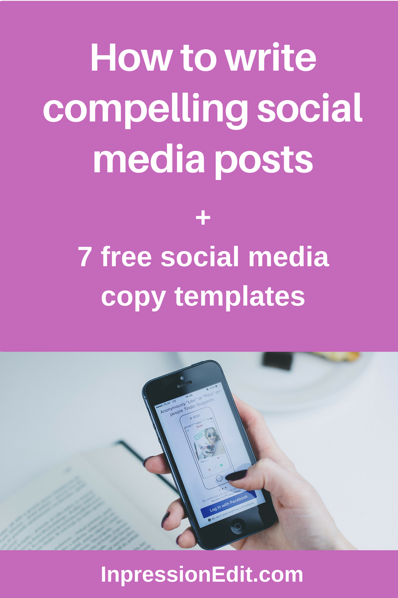 How to write compelling social media posts 7 free social for Social media templates free