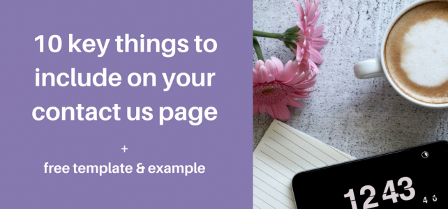 10 key things to include on your contact us page + free template and example
