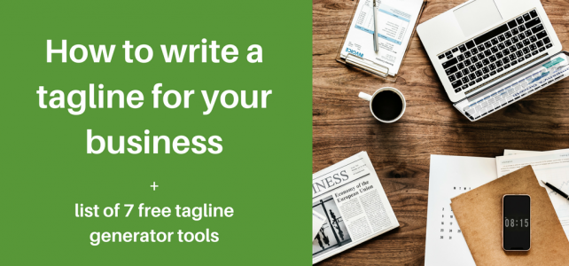How to write a tagline for your business + 7 free tagline generator tools