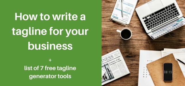 write a tagline