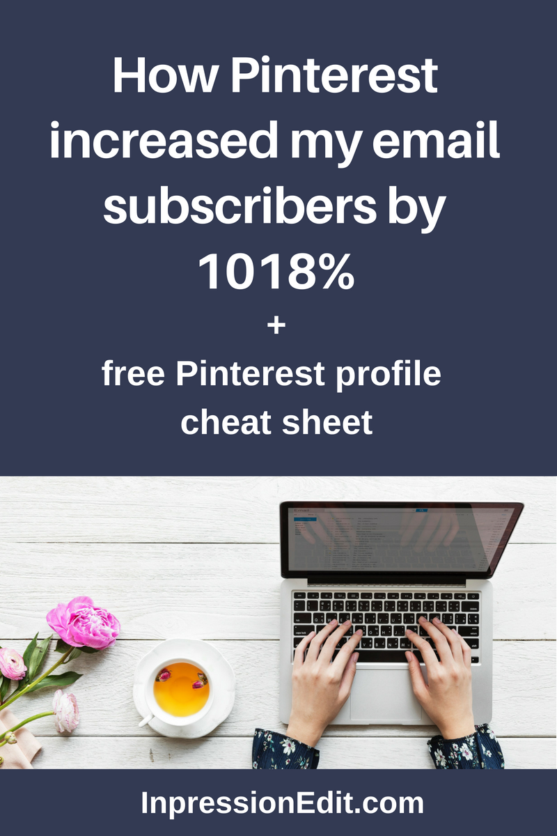 Pinterest increased my email subscribers