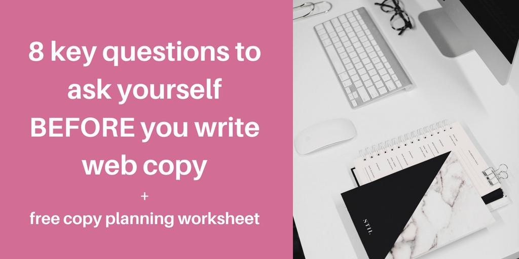 web copy questions