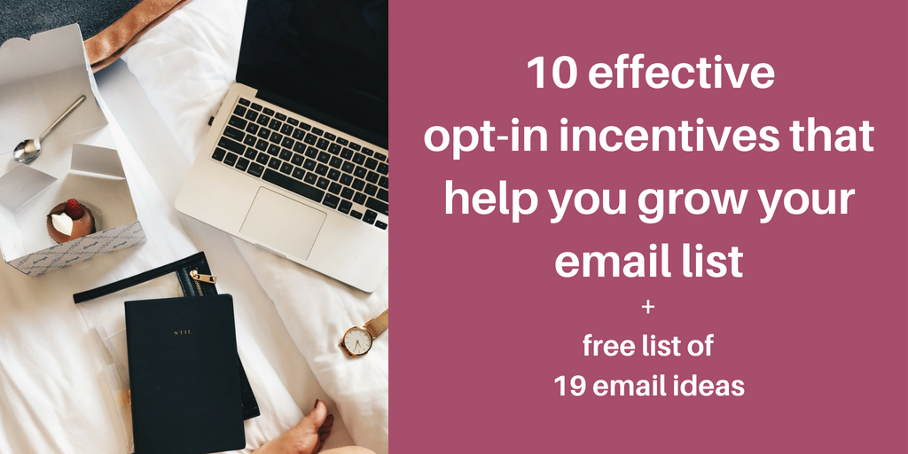incentives to grow your email list
