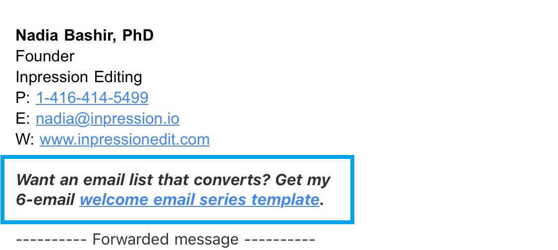 email opt-ins