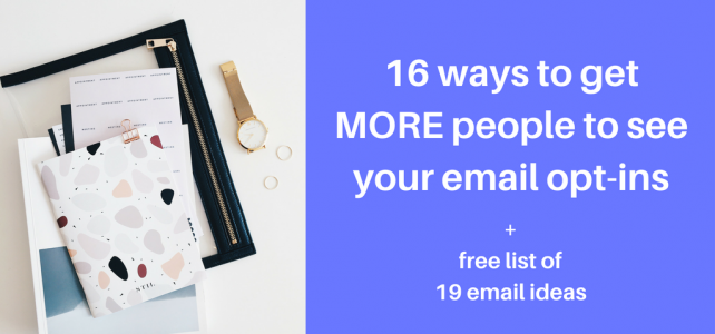 how to make email opt-ins more visible
