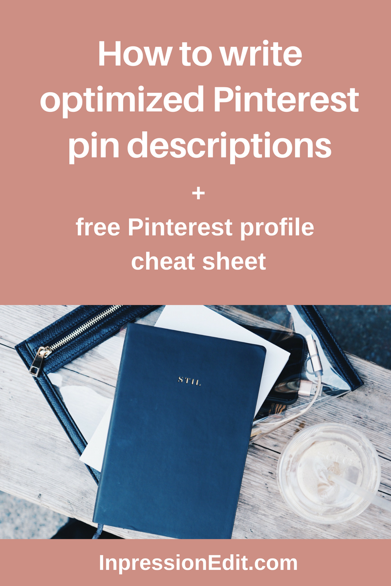 how to write optimized Pinterest pin descriptions