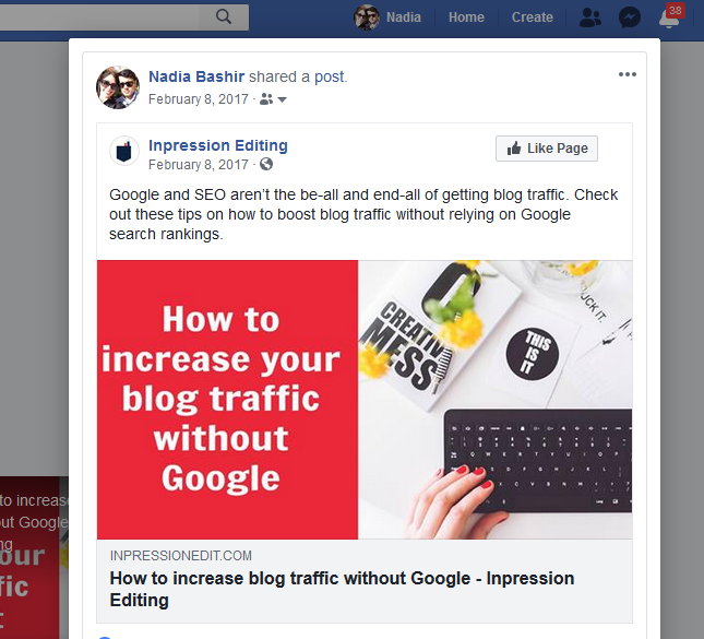share your blog posts