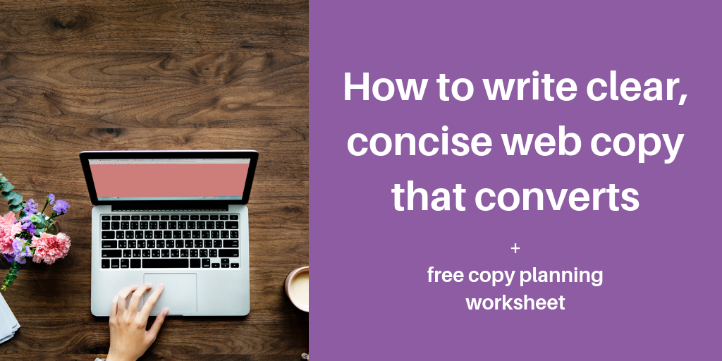 how to write concise web copy