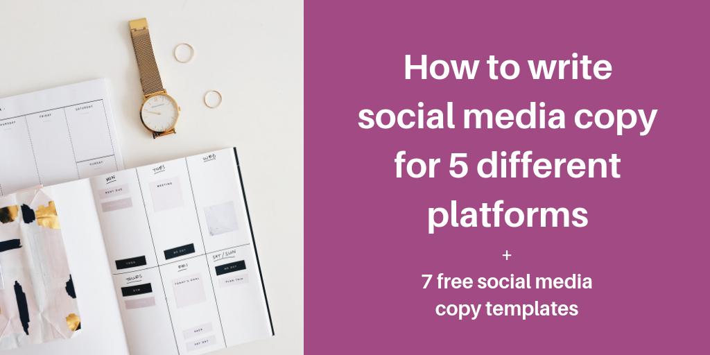 how to write social media copy