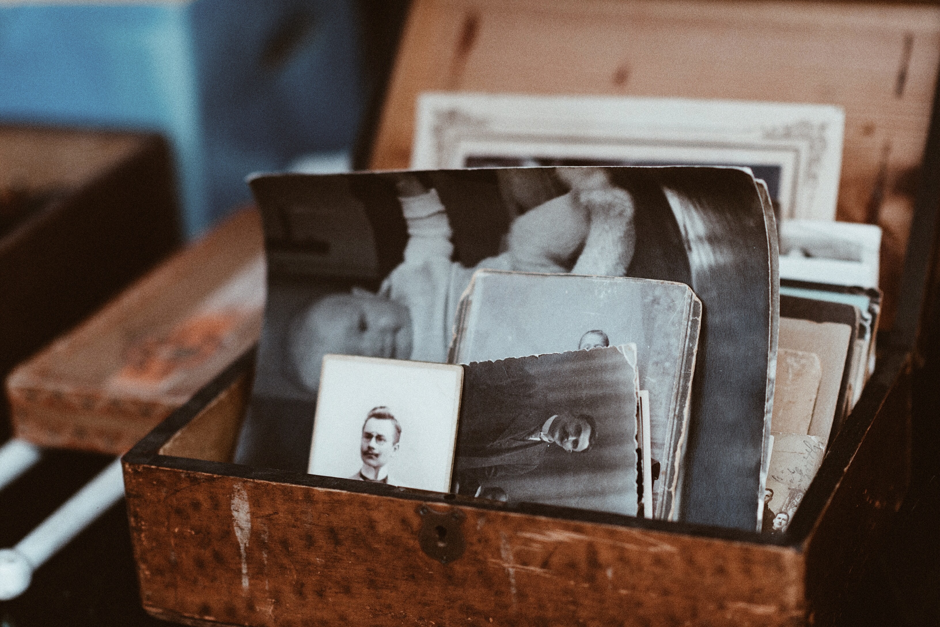 Box with old photos