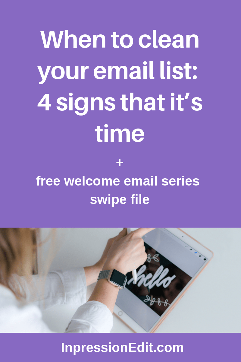When to clean your email list