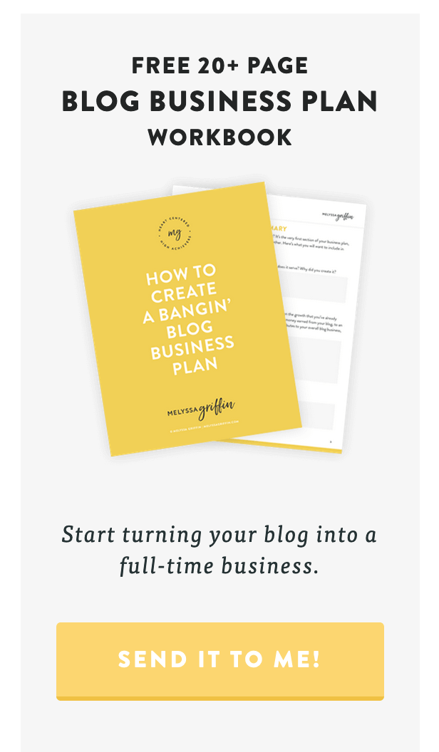 Melyssa Griffin blog business workbook