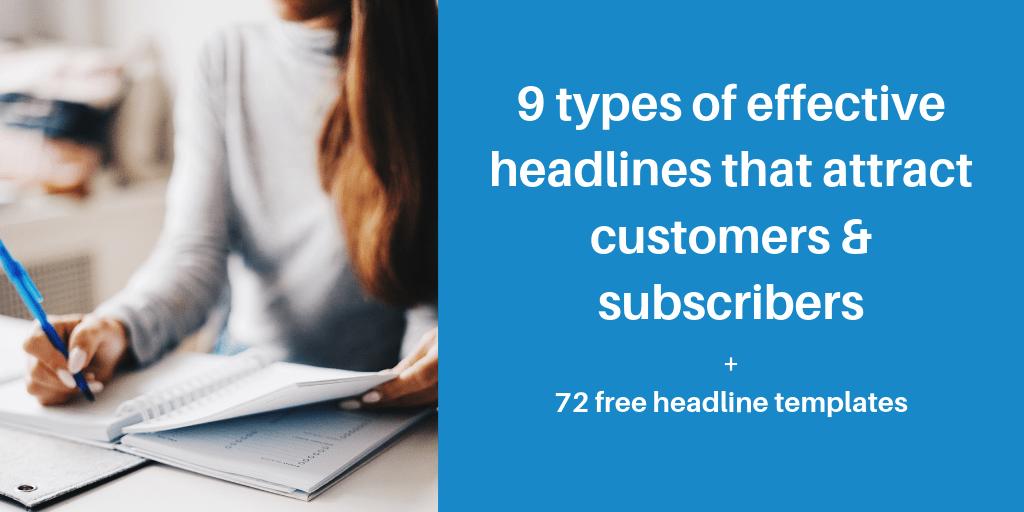 types of effective headlines