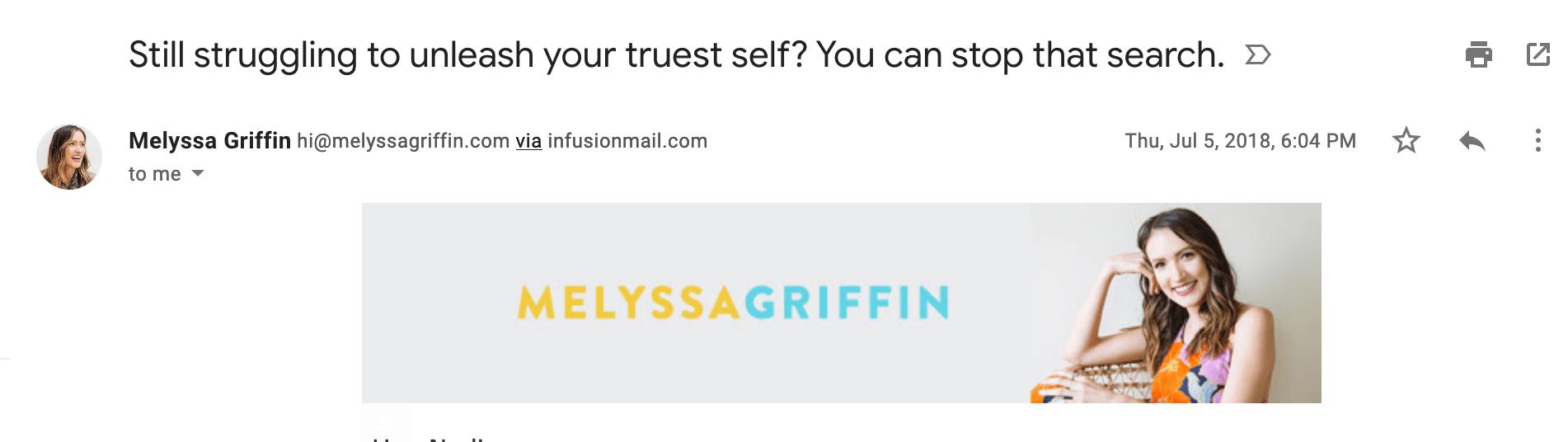 Melyssa Griffin effective headlines example