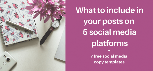 What to include in your posts on 5 social media platforms + 7 free social media copy templates
