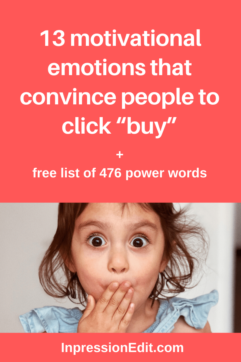 "13 motivational emotions that convince people to click ""buy"""