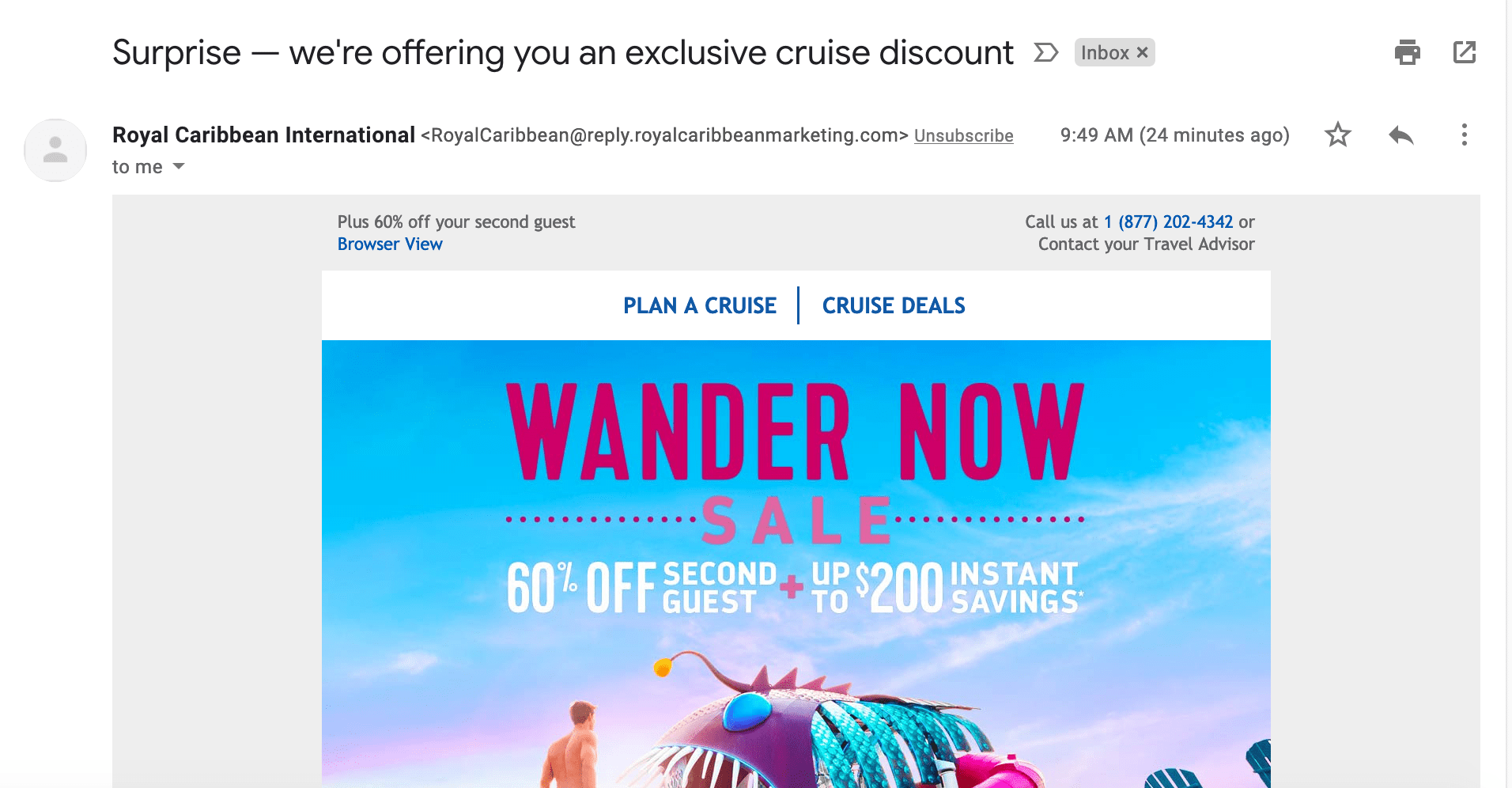 Royal Caribbean email