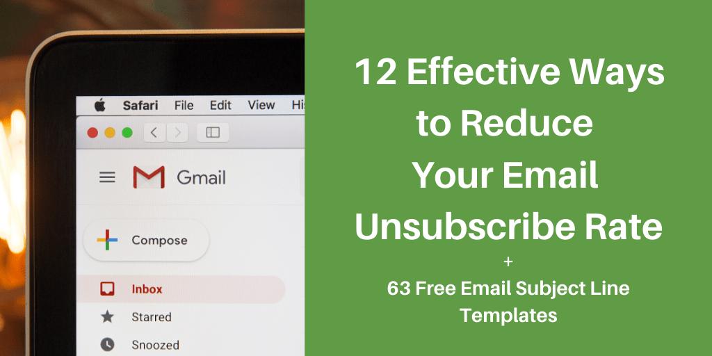 ways to reduce email unsubscribe rates
