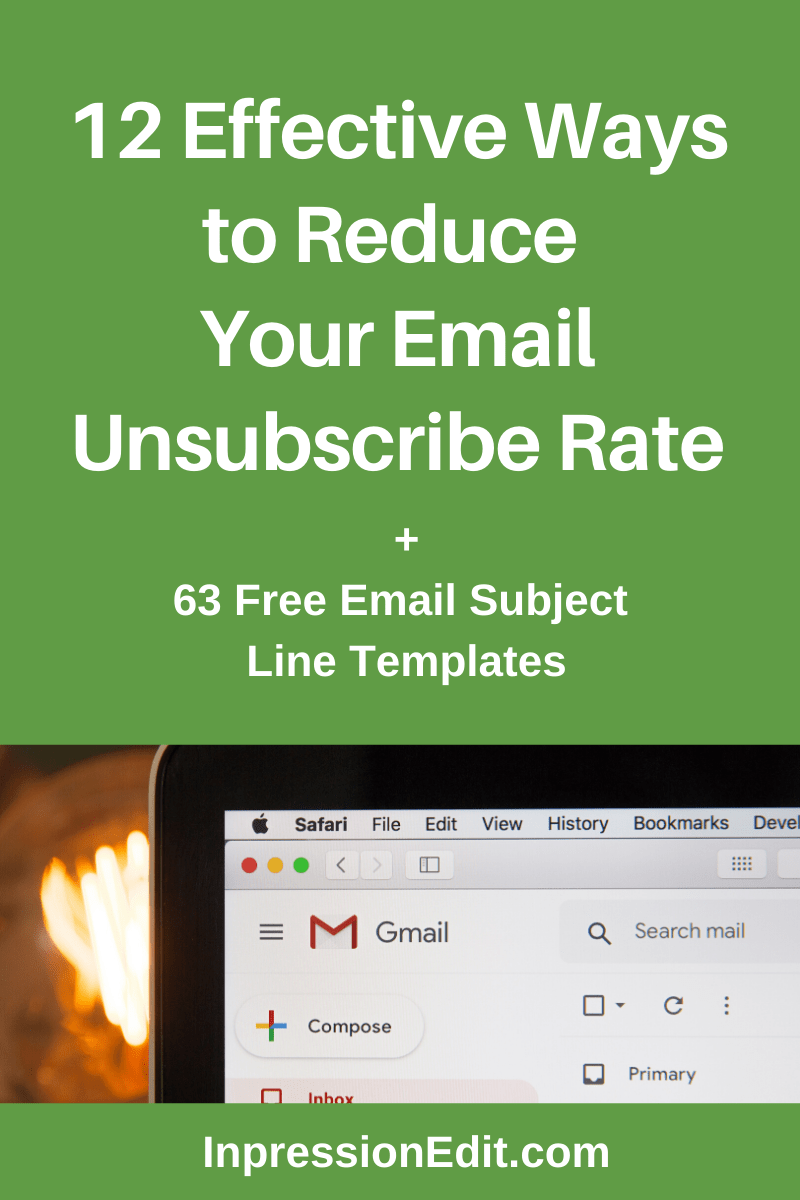 Are too many people unsubscribing from your email list? Learn 12 hacks to reduce your unsubscribe rate + grab 63 free email subject line templates.