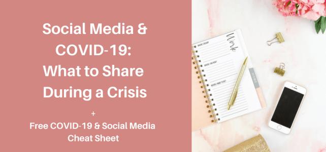 COVID-19 and social media tips