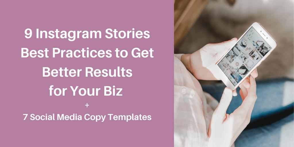 9 Instagram Stories best practices